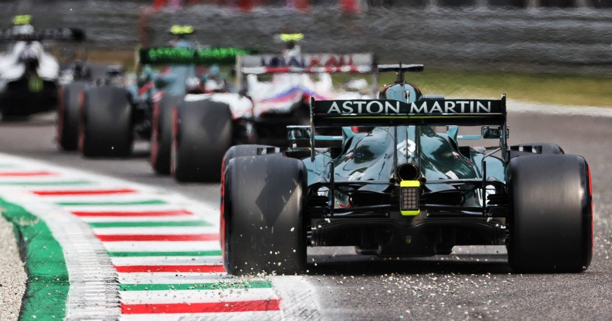A queue forms during qualifying at Monza. Italy September 2021