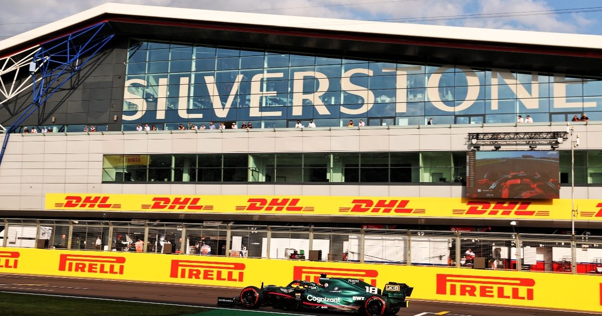 Lance Stroll on a lap at Silverstone. Great Britain July 2021