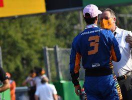 Daniel Ricciardo and Zak Brown embrace. Italy September 2021