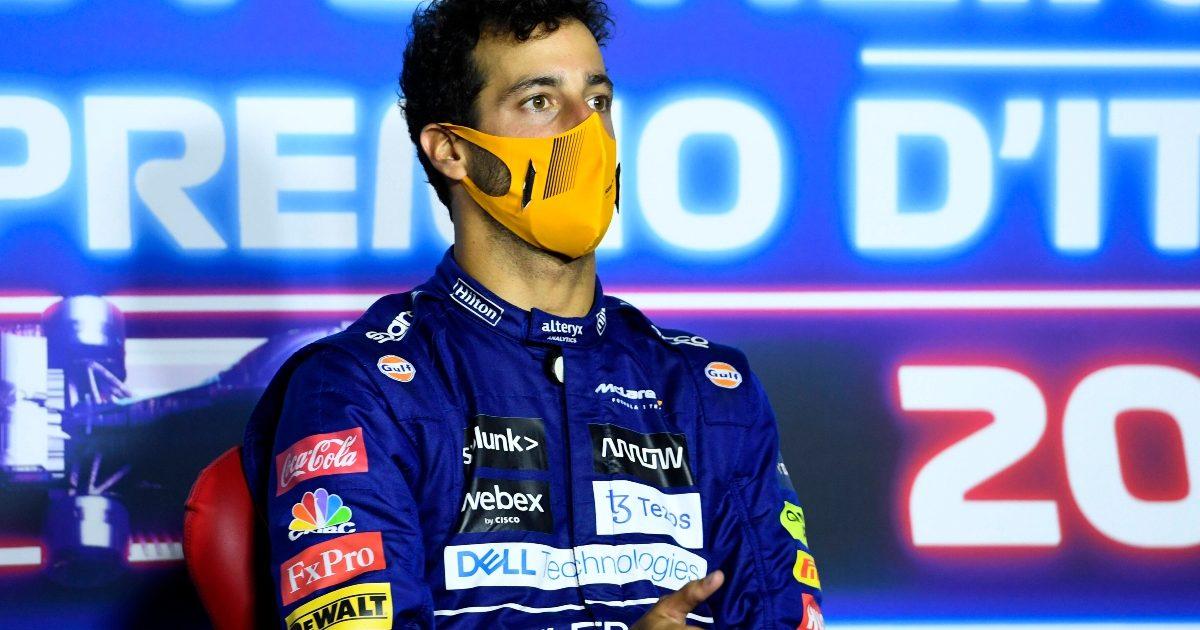 Daniel Ricciardo speaking to the media. Italy September 2021