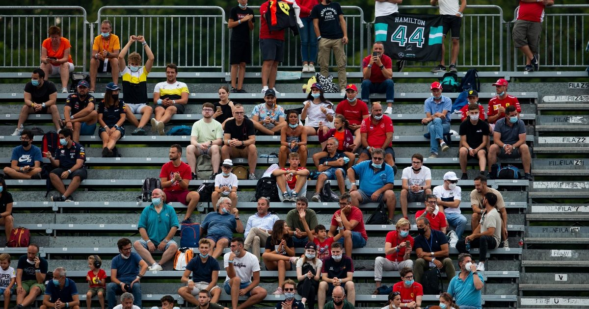 The crowd watches on at the Italian Grand Prix. Italy September 2021