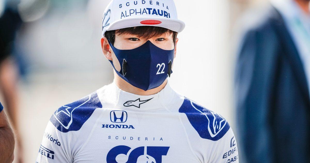 Yuki Tsunoda on the starting grid ahead of the Dutch Grand Prix. Netherlands September 2021