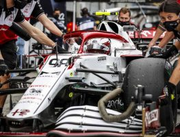 Callum Ilott takes part in F1 free practice in Austria