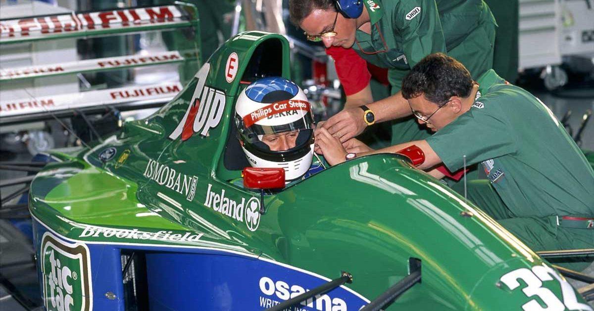 Michael Schumacher ahead of his F1 debut with Jordan.