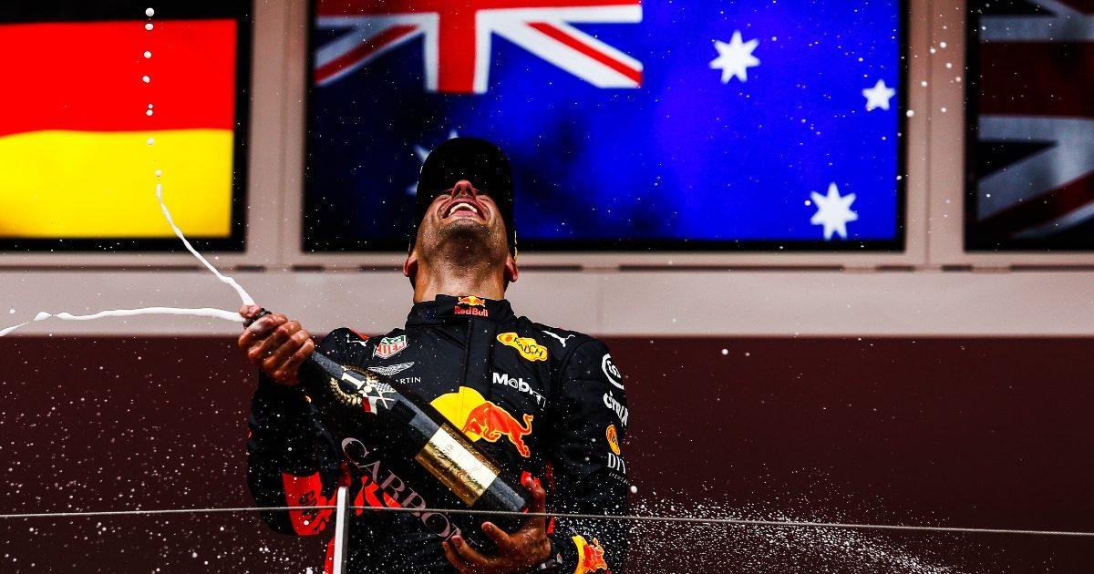 Daniel Ricciardo celebrates in Monaco. Monaco May 2018