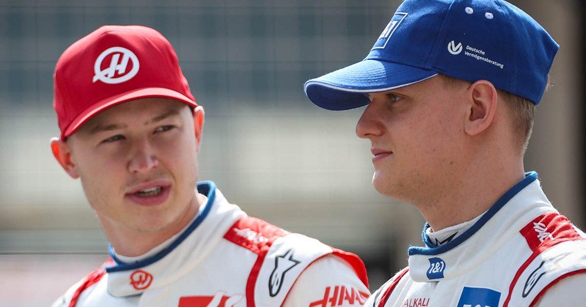 Mick Schumacher and Nikita Mazepin. Sakhir 2021