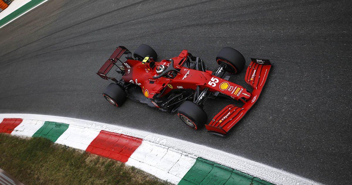 Ferrari driver Carlos Sainz. Monza September 2021