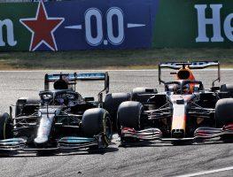 Lewis Hamilton and Max Verstappen. Monza September 2021