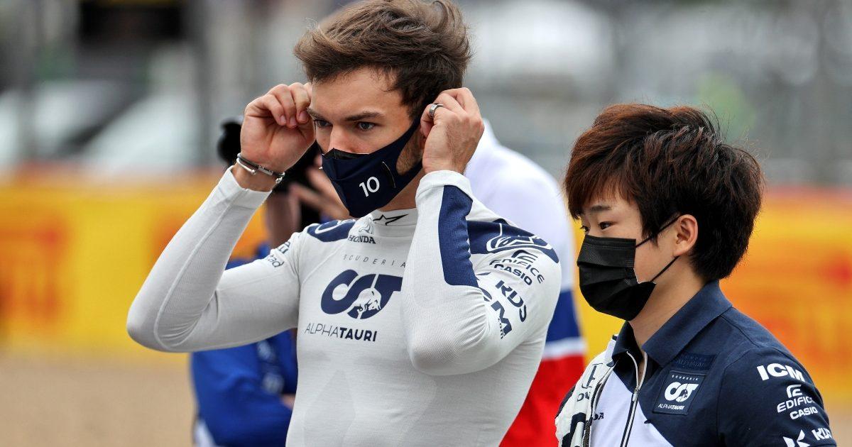 Pierre Gasly and Yuki Tsunoda at Silverstone. Great Britain July 2021