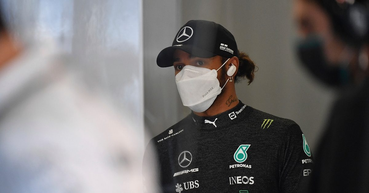Lewis Hamilton at Monza. Italy September 2021