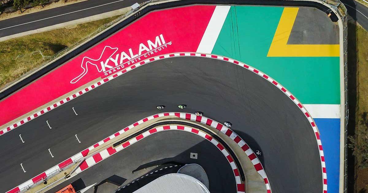 Kyalami hairpin aerial view.