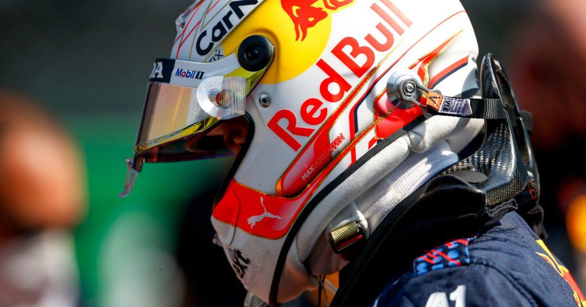 Max Verstappen Red Bull helmet. Italy September 2021