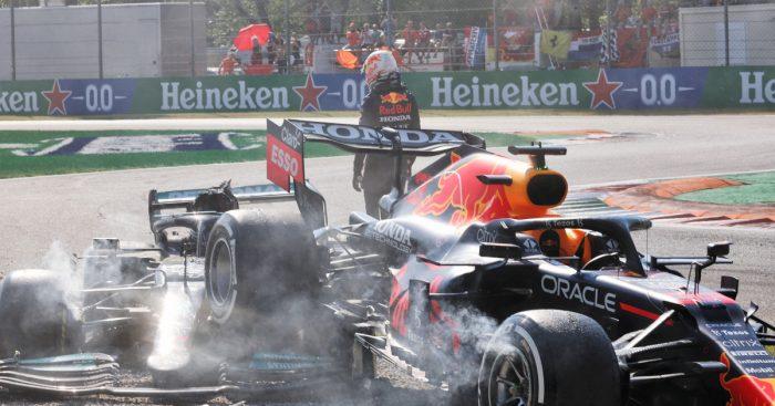 Max Verstappen walks away from crash. Italy September 2021