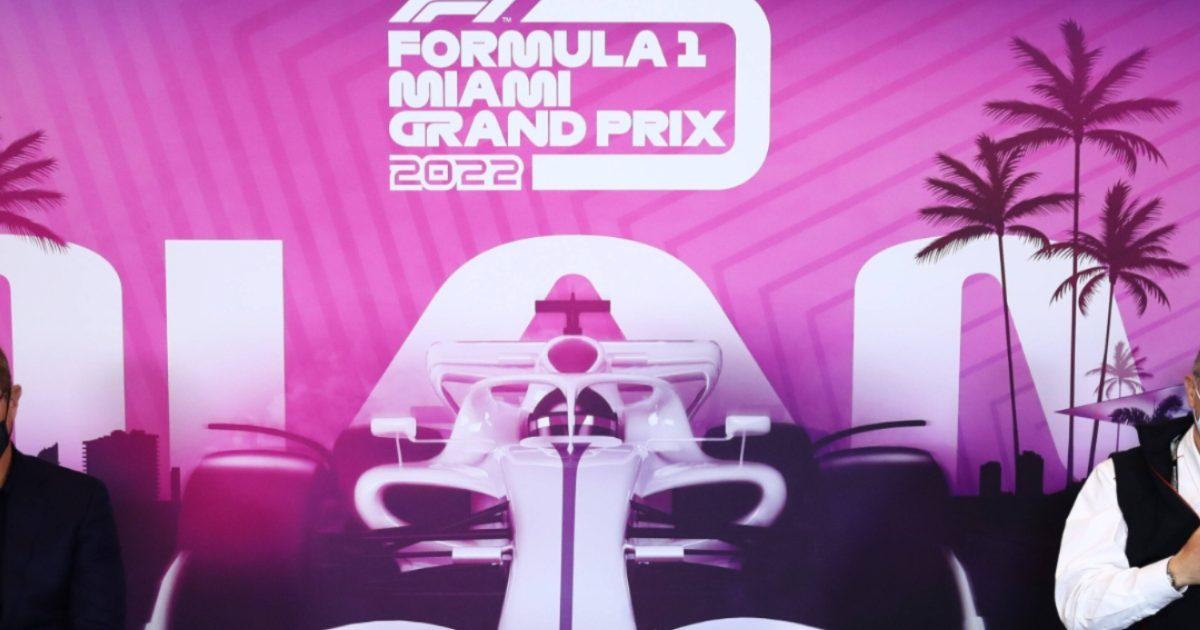 The press conference announcing the Miami Grand Prix. Italy April 2021