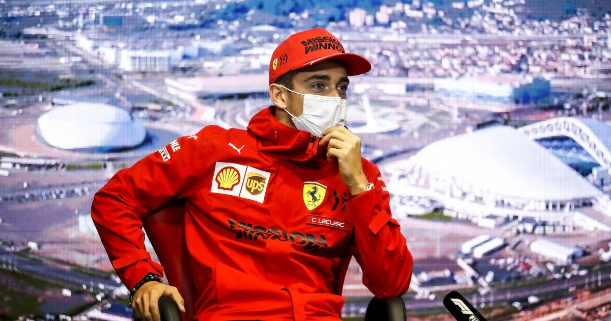 Charles Leclerc speaking in a press conference. Russia September 2021