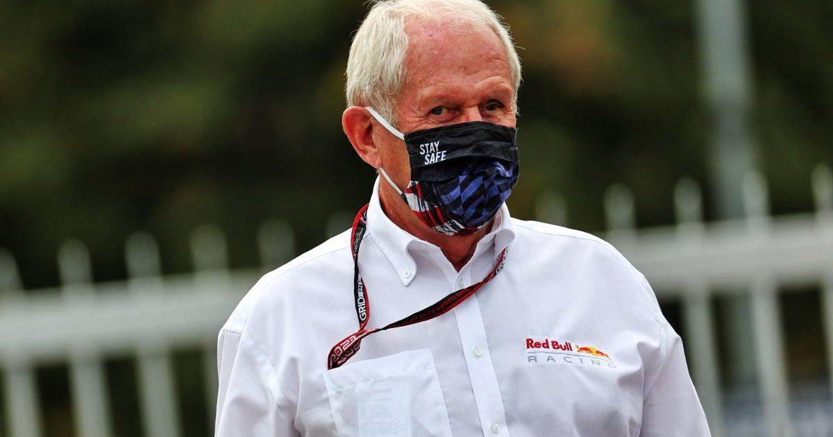 Helmut Marko wearing a face mask. Monza September 2021.