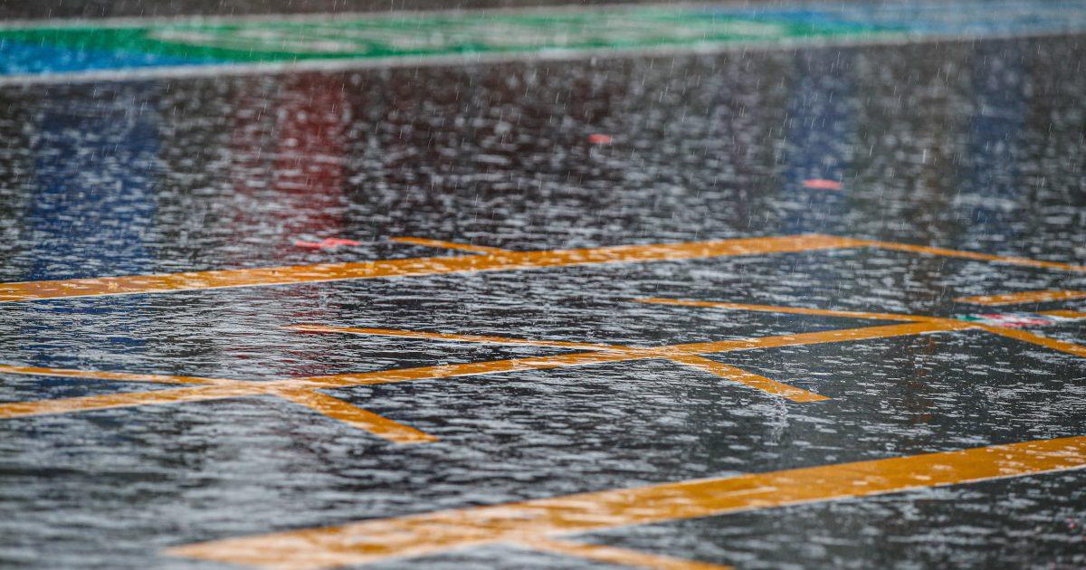 F1 rain. Belgium August 2021