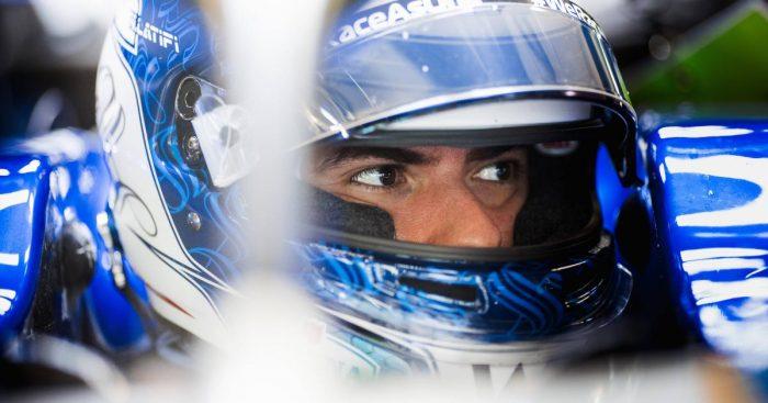 Nicholas Latifi gears up to drive his Williams. September 2021.