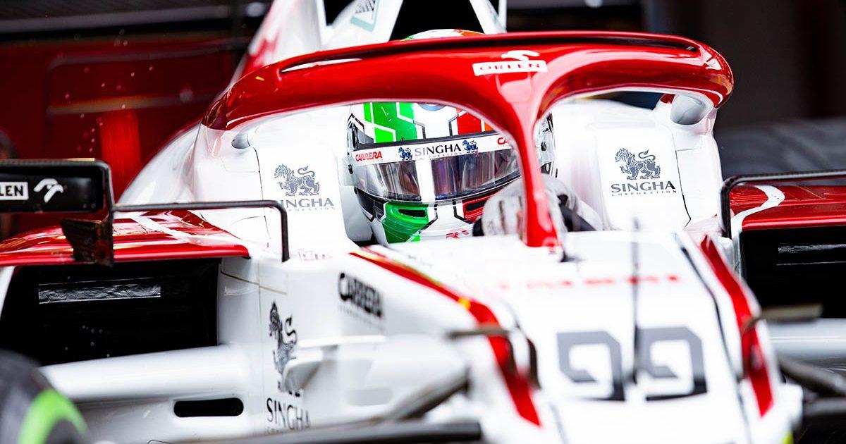Antonio Giovinazzi in the Alfa Romeo garage. Sochi September 2021