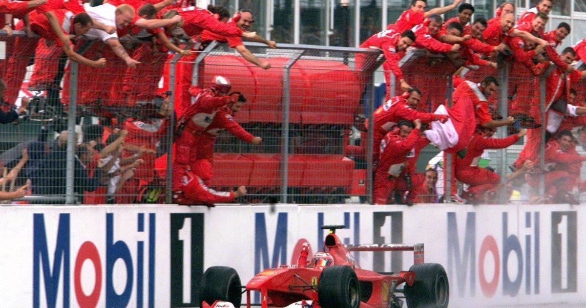 Rubens Barrichello wins the 2000 German Grand Prix. Germany July 2000