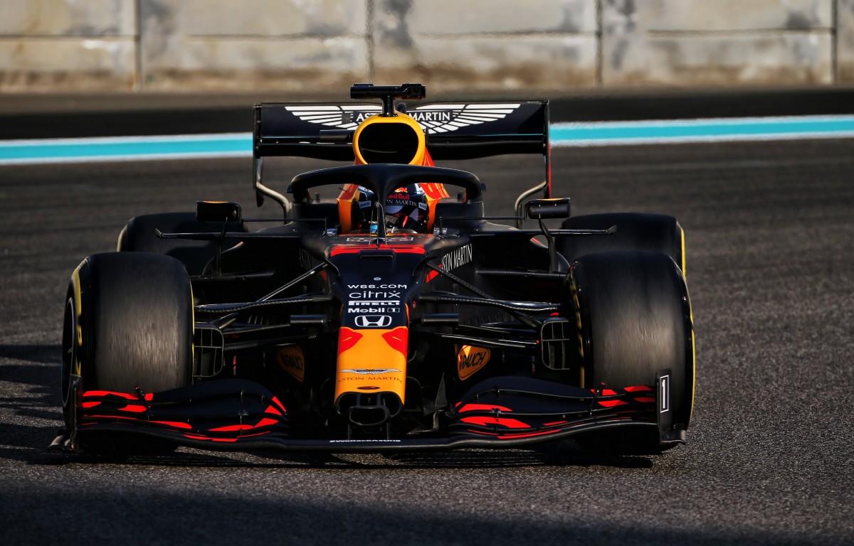 Red Bull junior Juri Vips in testing action. Abu Dhabi, December 2020.