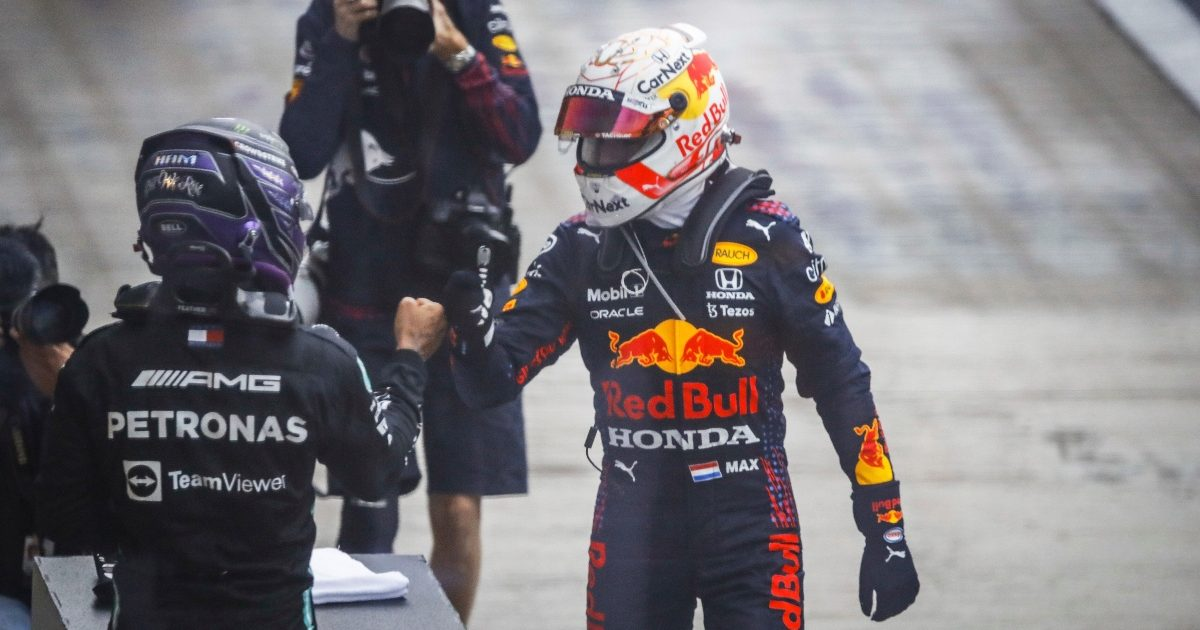 Lewis Hamilton and Max Verstappen at Sochi. Russia September 2021