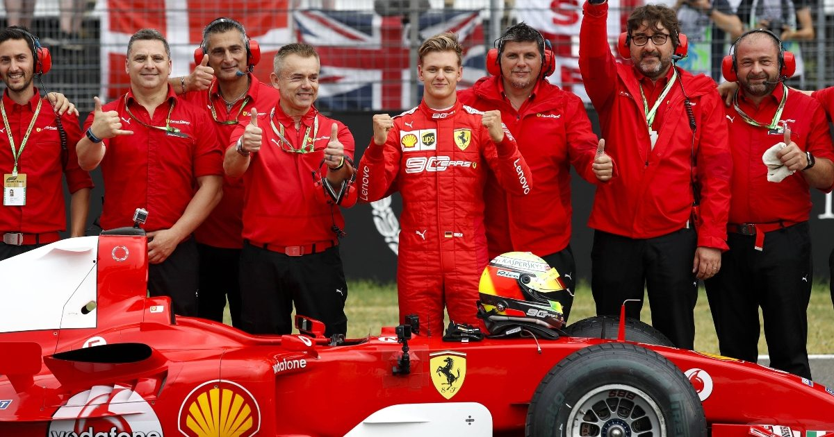 Mick Schumacher driving the Ferrari F2004 at Hockenheim. Germany July 2019