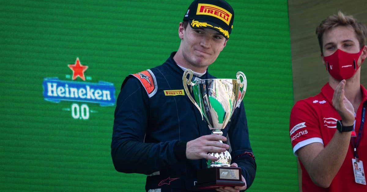 Dan Ticktum wins a trophy in F2.