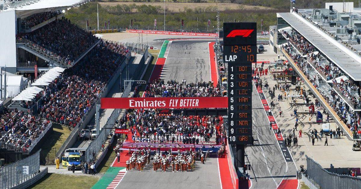 Grid scene at COTA before the US Grand Prix. Austin November 2019.