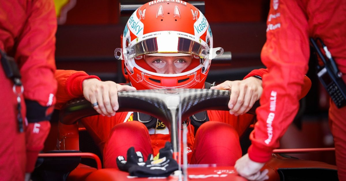 Charles Leclerc getting into his car at Silverstone. Great Britain July 2021