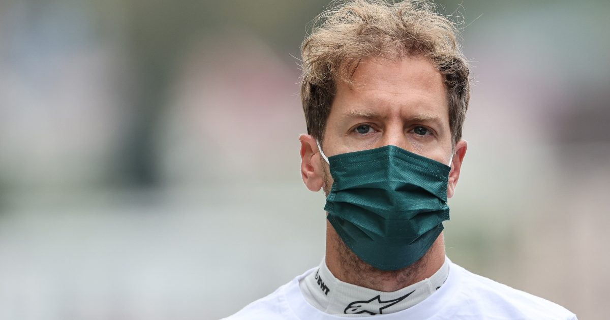 Sebastian Vettel on the grid at Sochi. Russia September 2021