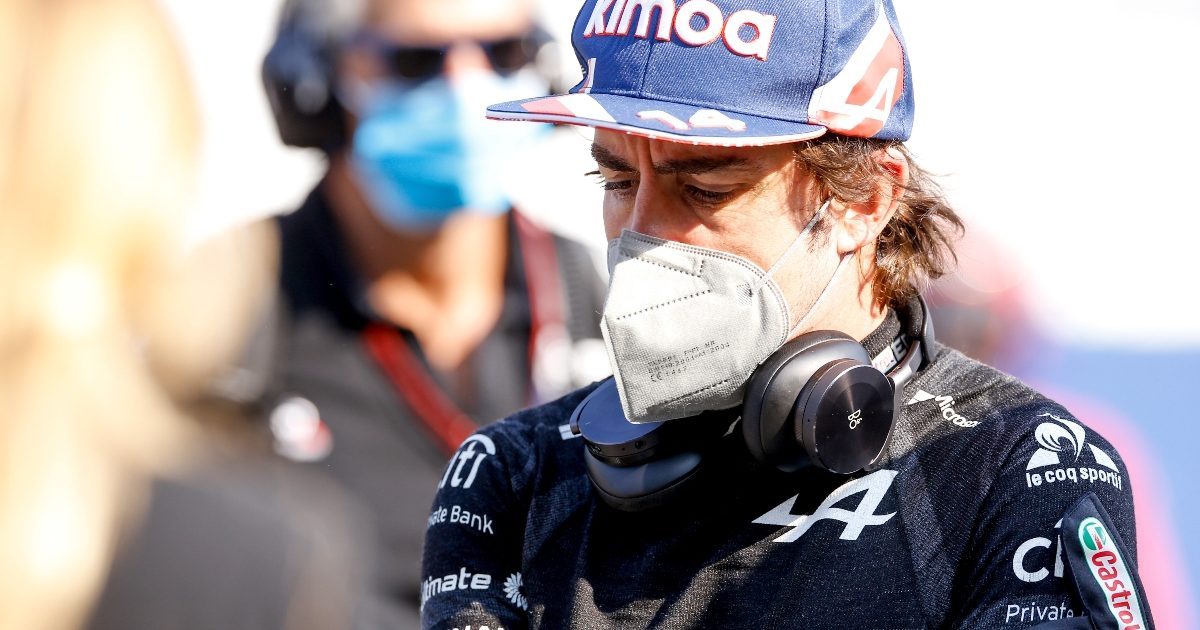 Fernando Alonso on the grid ahead of the Russian Grand Prix. Russia September 2021