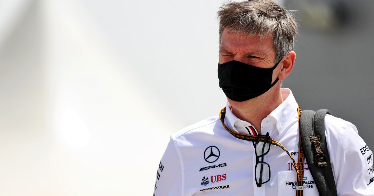 James Allison, Mercedes, in the Bahrain paddock. March 2021.