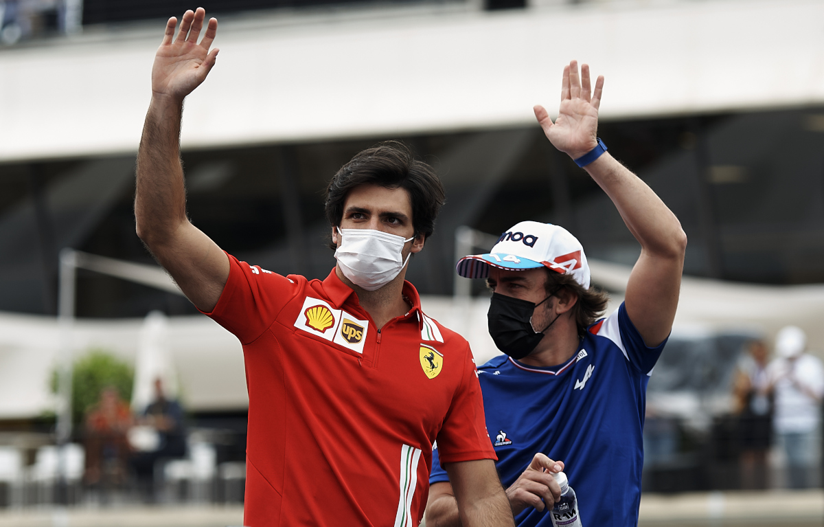 Carlos Sainz with Fernando Alonso. France June 2021