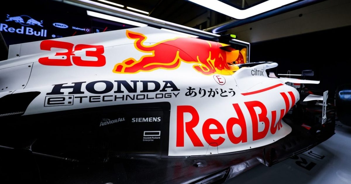 Red Bull's special Honda livery for the Turkish GP. October 2021