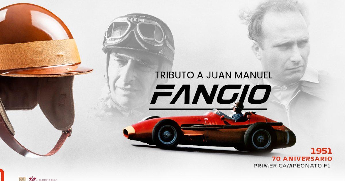 Juan Manuel Fangio helmet. Mexico October 2021