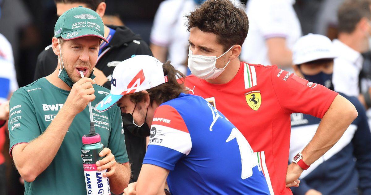Sebastian Vettel, Charles Leclerc and Fernando Alonso. French June 2021