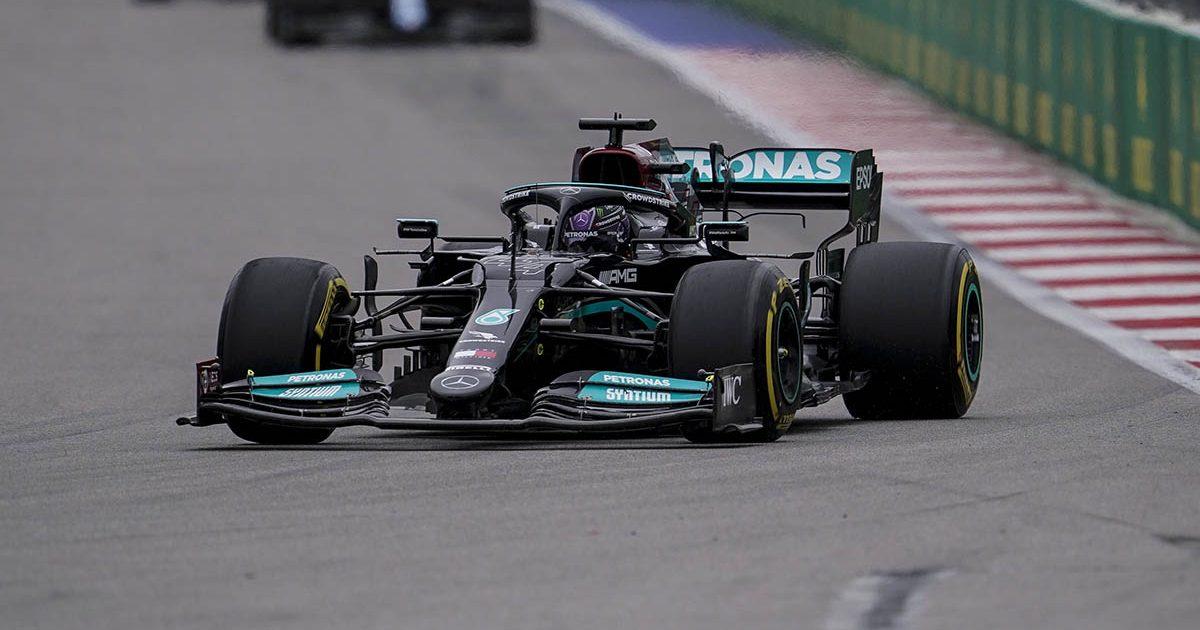 Lewis Hamilton at the Russian Grand Prix. Sochi September 2021