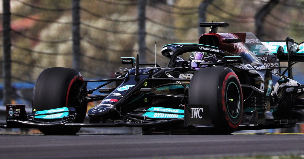 Lewis Hamilton out on track with soft Pirelli tyres. Turkey October 2021