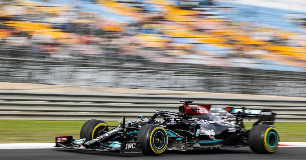Lewis Hamilton driving at Istanbul Park. Turkey October 2021
