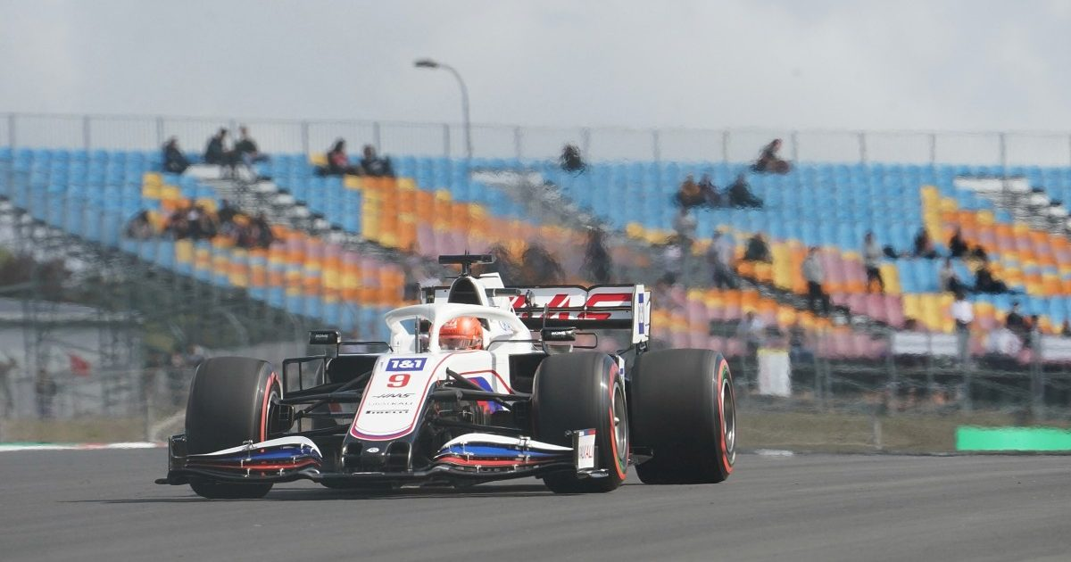 Nikita Mazepin in action for Haas. Turkey, October 2021.