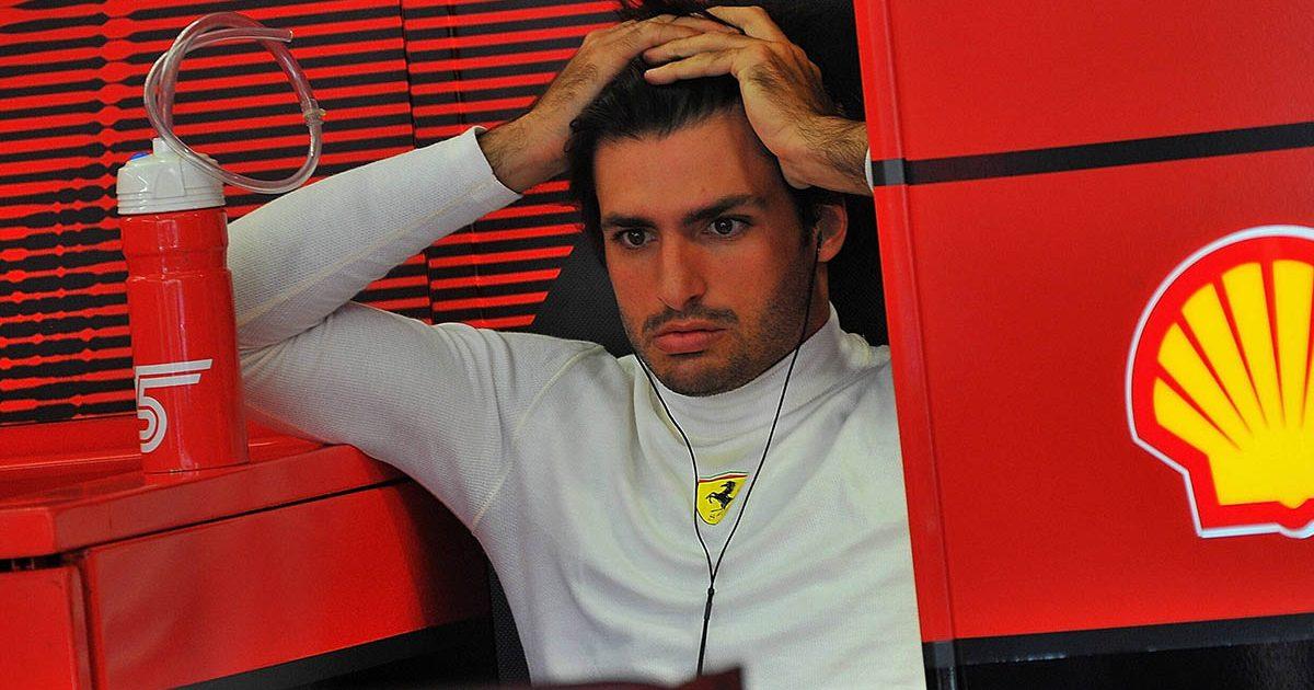 Ferrari driver Carlos Sainz. Istanbul October 2021