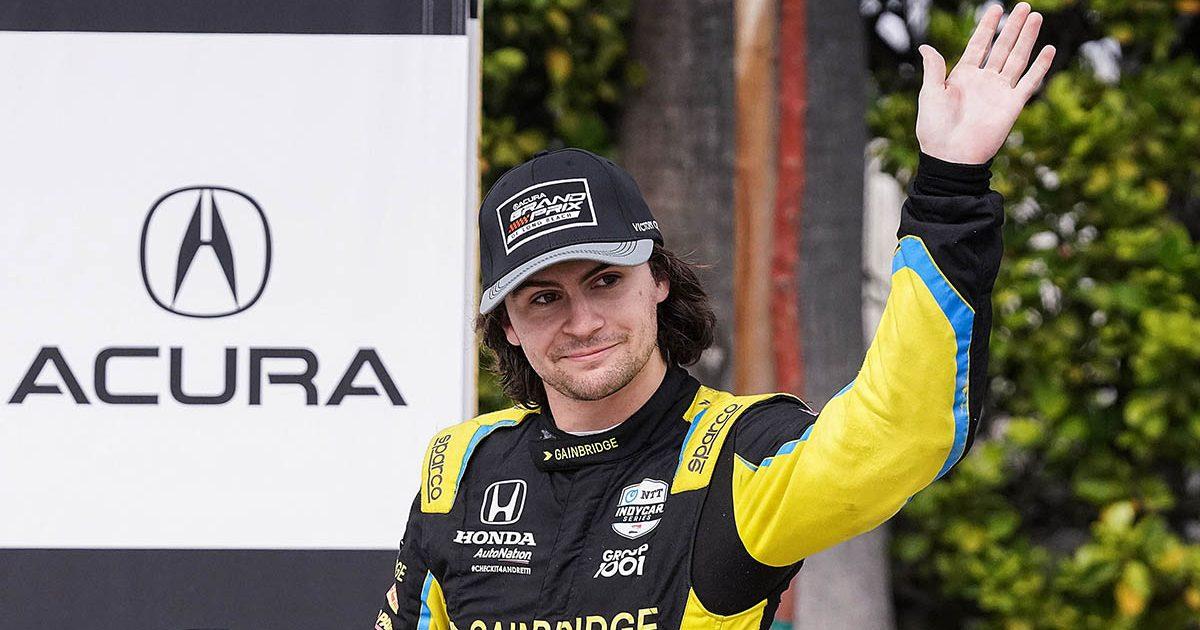 Colton Herta IndyCar driver. October 2021