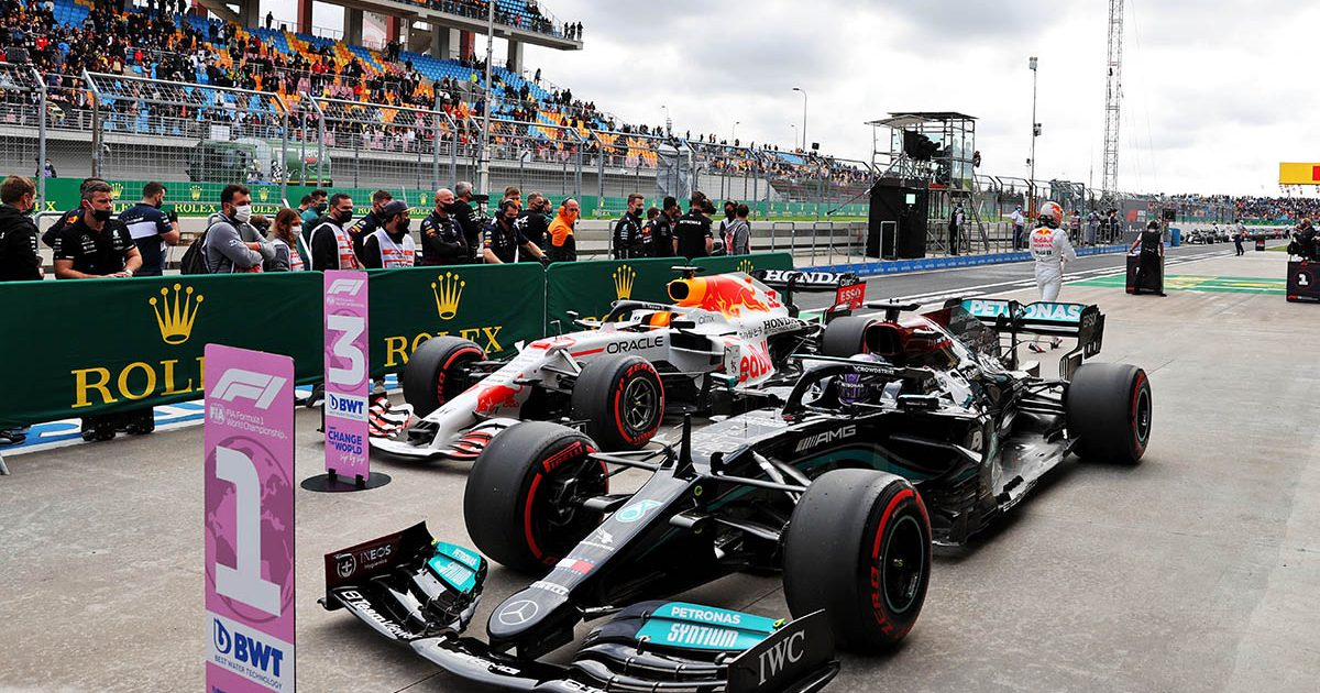 Lewis Hamilton fastest in qualifying for the Turkish Grand Prix. Istanbul October 2021