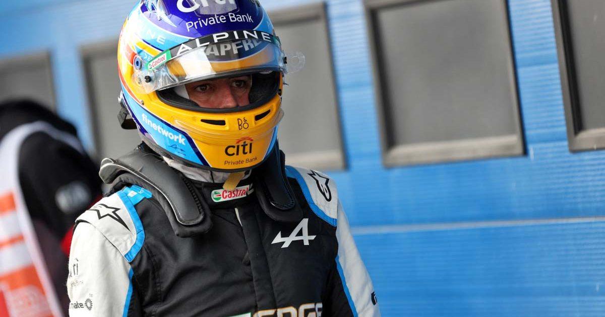 Fernando Alonso in his helmet. Turkey October 2021.