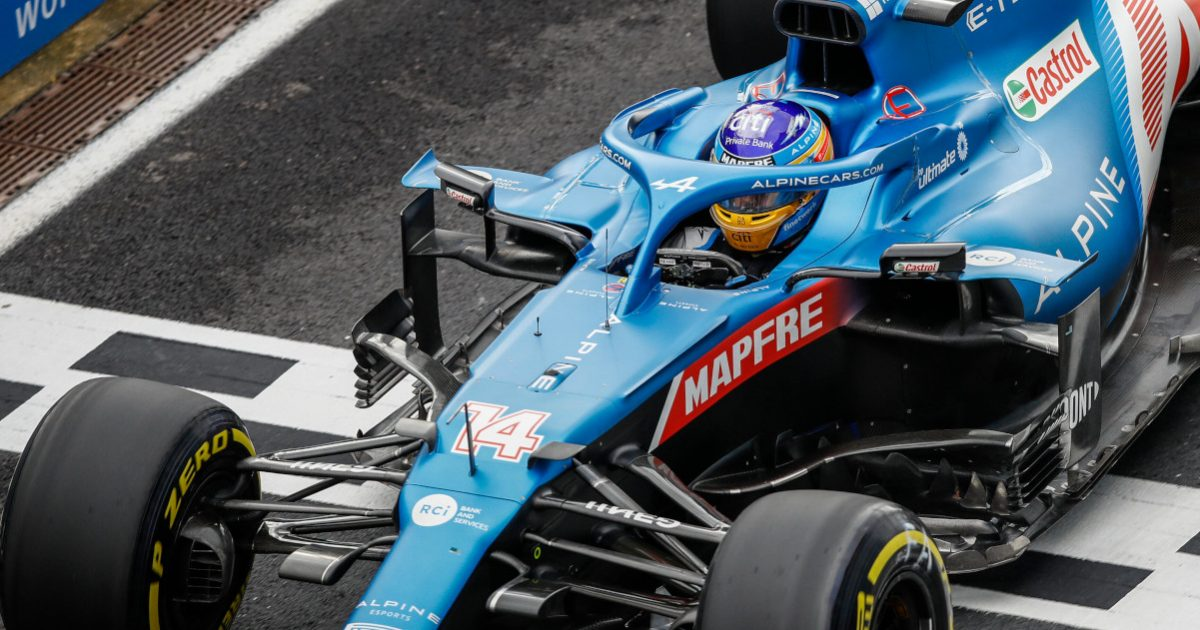 Fernando Alonso on the medium Pirelli tyres. Turkey October 2021