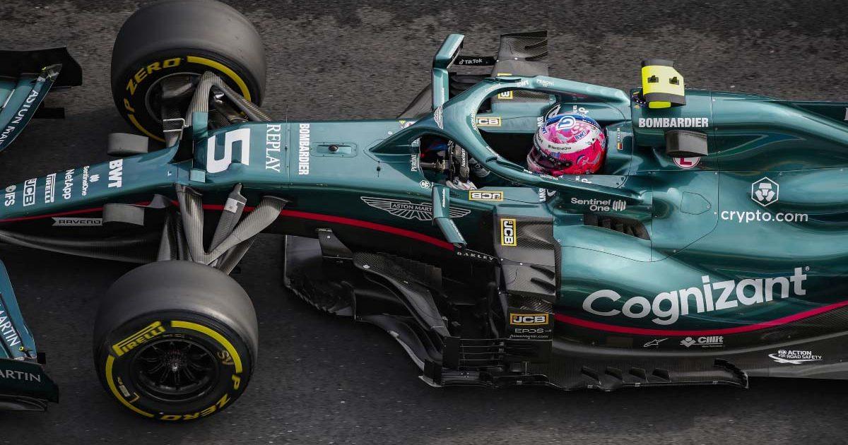 Sebastian Vettel on dry tyres in Turkey. October 2021.