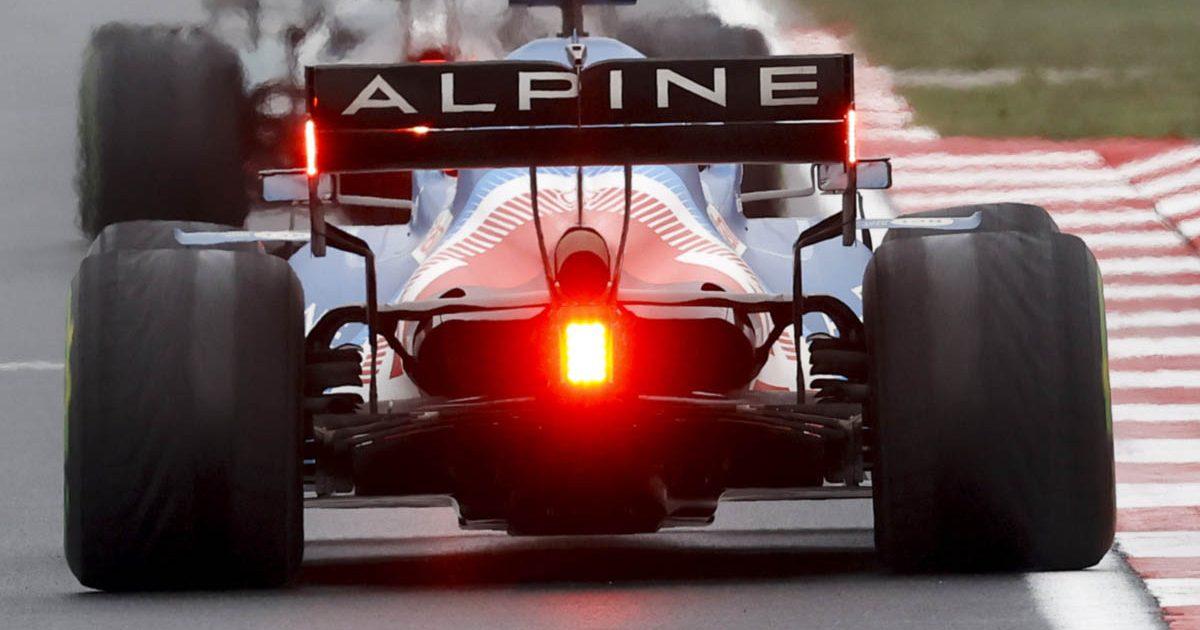 Esteban Ocon's worn rear tyres. Turkey October 2021.
