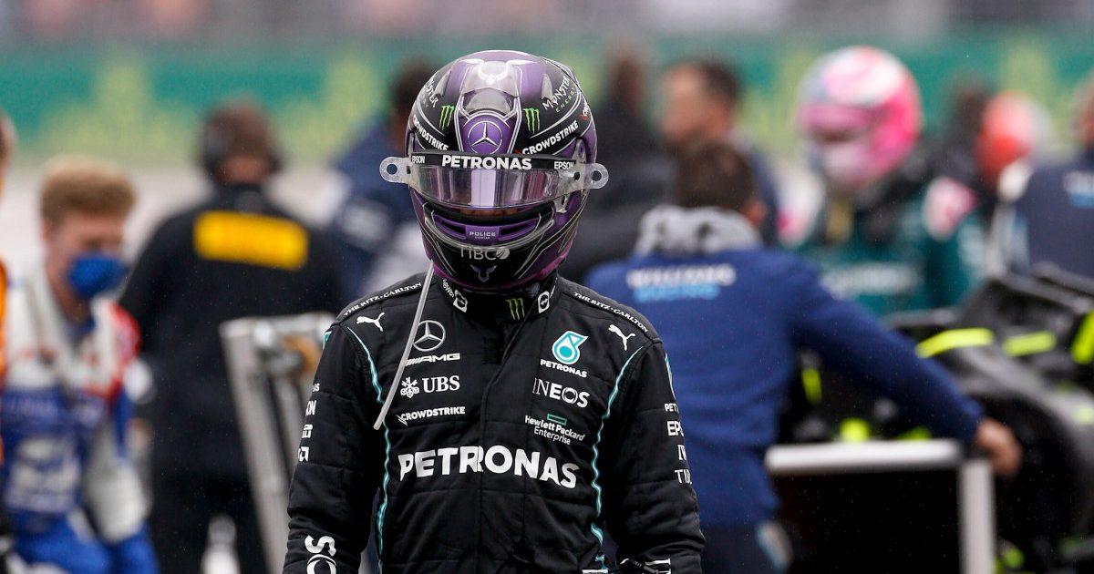Lewis Hamilton walking down the grid. Turkey October 2021