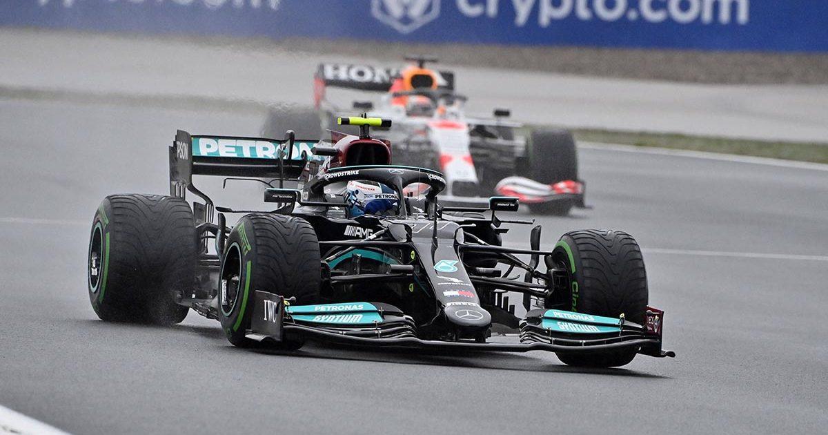 Valtteri Bottas ,Mercedes, ahead of Red Bull at the Turkish Grand Prix. Istanbul October 2021